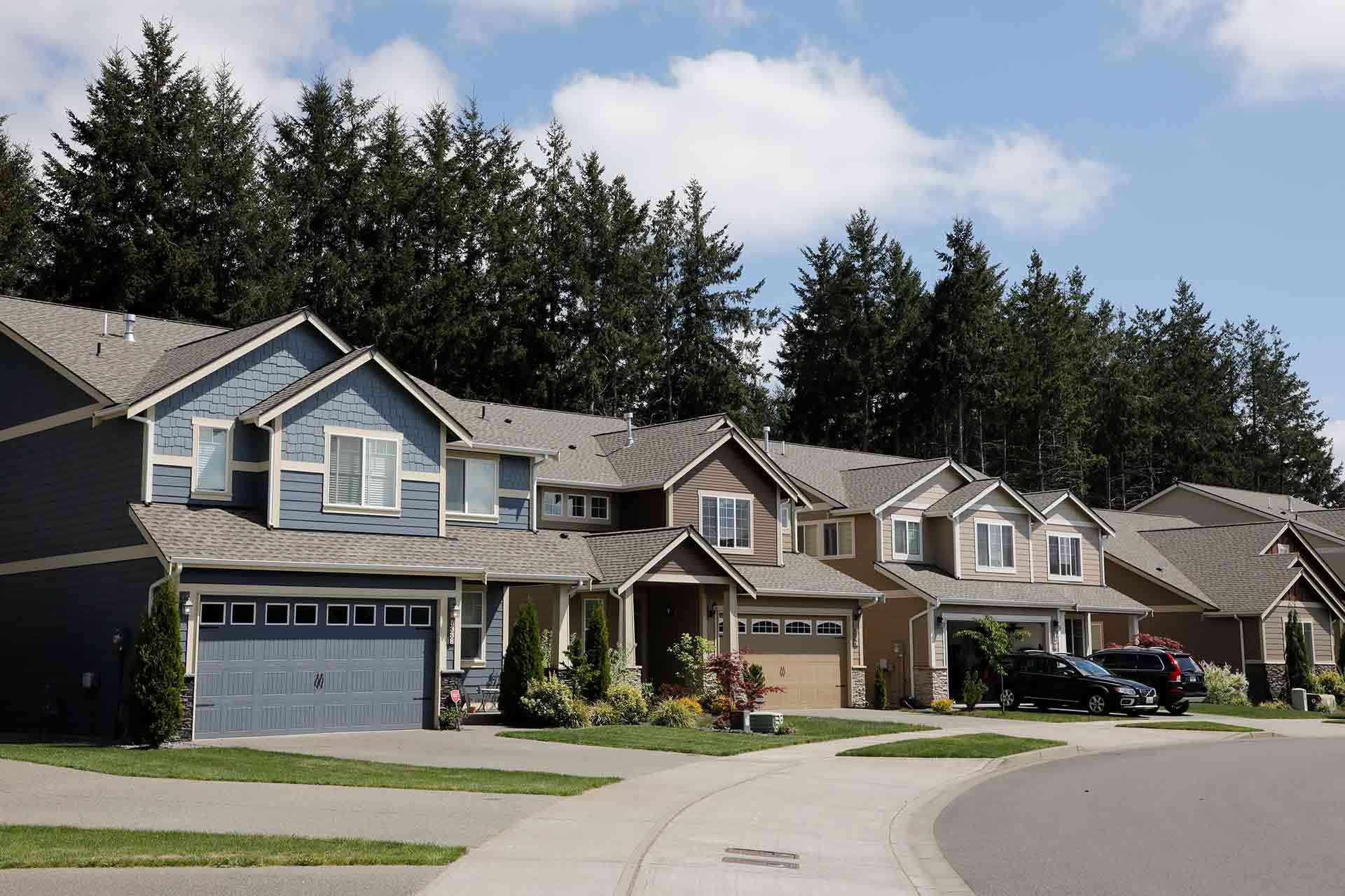 Residential neighborhood, Olympia area, Washington state