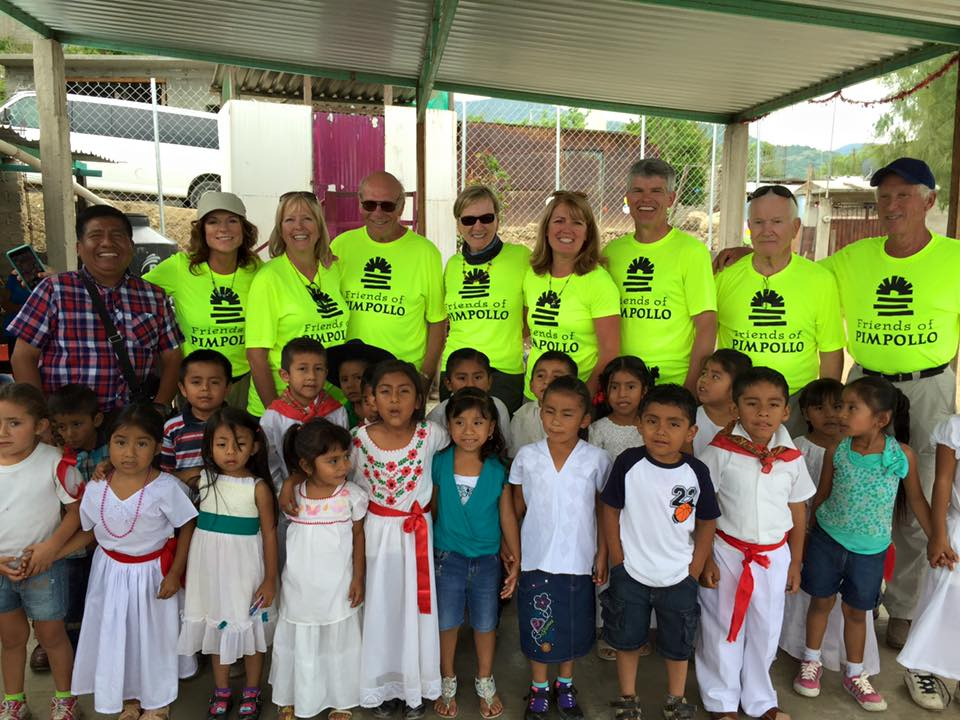 """Team Rants"" with Friends of Pimpollo and school children in Oaxaca, Mexico. Photo courtesy: Pat Rants"